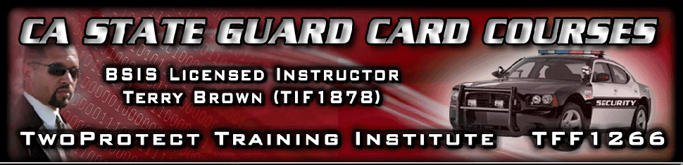 8-Hour Guard Card Course Online - Power to Arrest and WMD Full